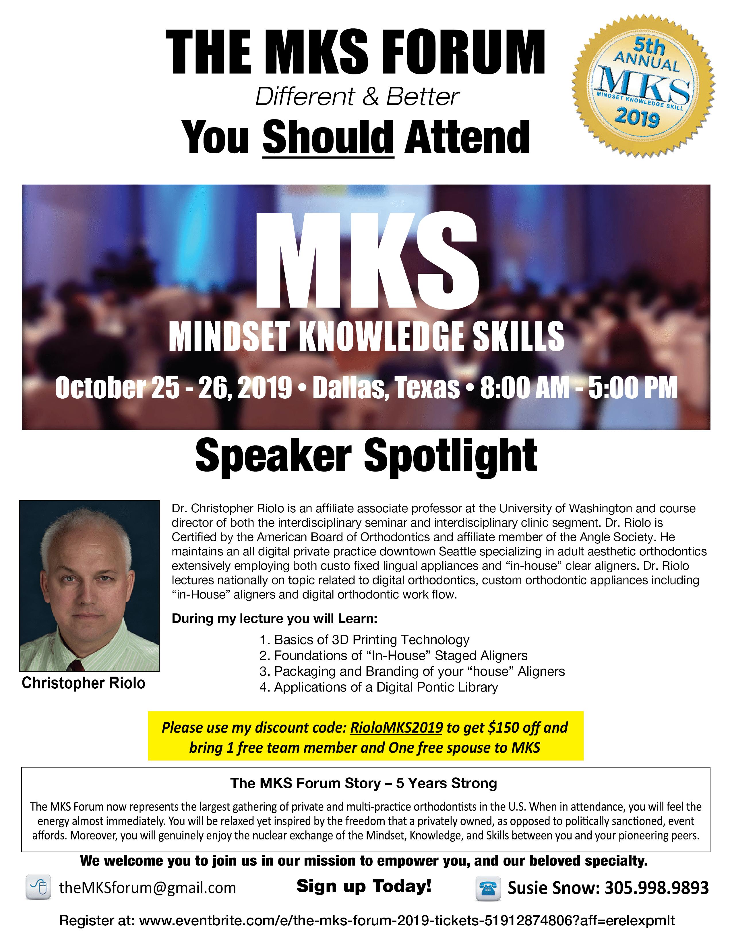 MKS event information